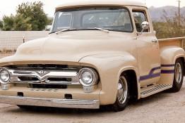 Custom Auto Paint Ford F8 Pickup Truck Tan Stripe