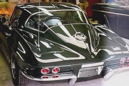 Custom Auto Paint Chevy Corvette Green Black