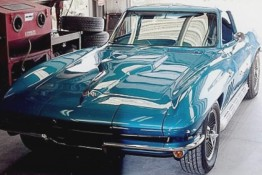 Custom Auto Paint Chevy Corvette Teal Blue