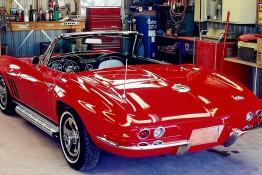 Custom Auto Paint Chevy Corvette Stingray Convertible Red