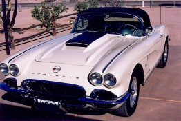 Custom Auto Paint Chevy Corvette Convertible White
