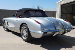 Custom Auto Paint Chevy Corvette Convertible Silver